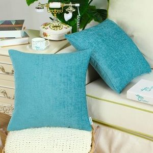 Teal Cozy Soft Decor Throw Pillow Covers